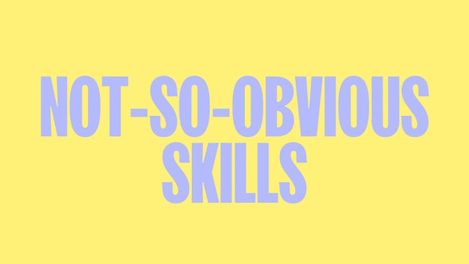 10 Not-So-Obvious Skills of Top Performers