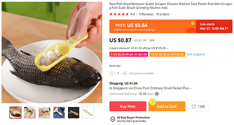 This fish scaler is a high-profit product to sell in an online general store