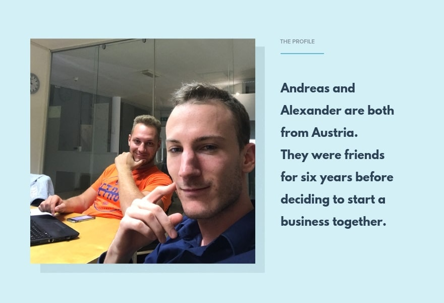 The profiles of success dropshippers Andreas and Alexander