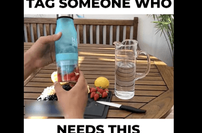 Consider using video to market this infusion water bottle
