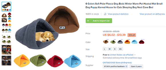 Novelty pet beds are one of the best products to dropship