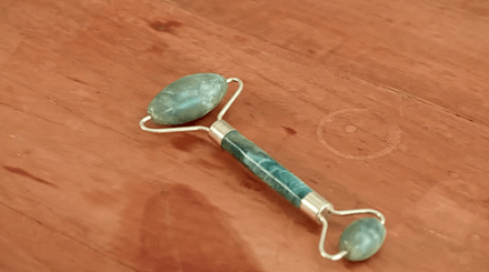 Aubrey and Mandie recommend selling this jade stone roller
