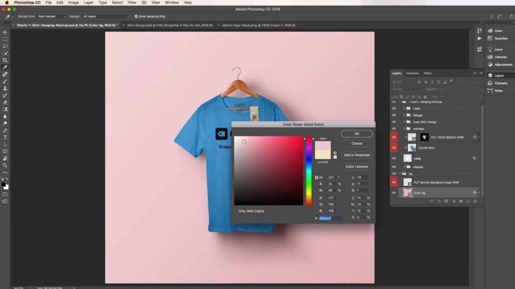 Changing the background in photoshop