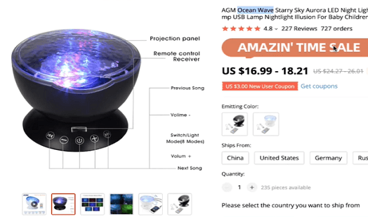 An unusual business idea in the form of a night light projector