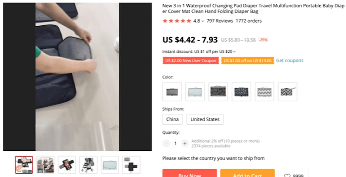 Target young parents and the holiday season to sell this diaper changer