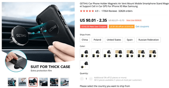 The magnetic car phone holder's flexibility makes it unique