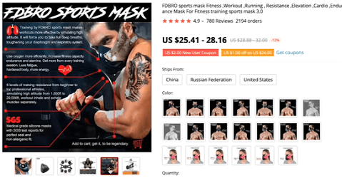 This endurance mask will be a hit with the CrossFit world