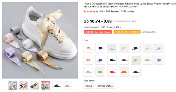 Use Instagram influencers to market these satin shoelaces