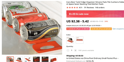 The can fridge organizer is the fifth huge potential product to dropship