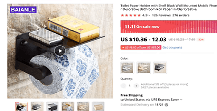 The toilet paper shelf is the first of five huge potential products to dropship