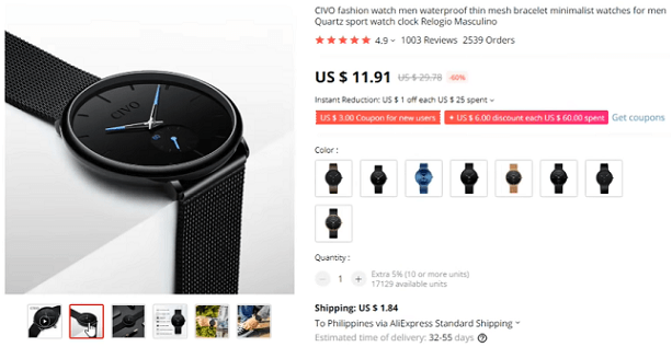 Boring watches should definitely be on the list of products to avoid dropshipping
