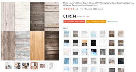 Sell Photography backdrops in your online store