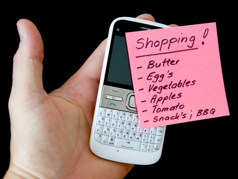 Use your shopping list as inspiration