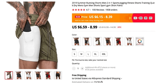 These cell phone gym shorts go great in the men's clothing and accessories niche in 2020