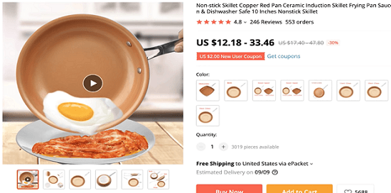 One product recommendation by the CEO of Ecomhunt is this non-stick pan