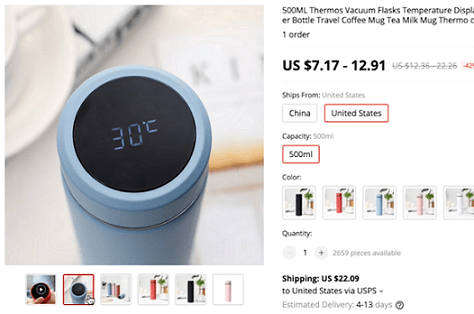 This temperature displaying thermos is a great product to dropship in 2020