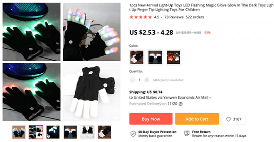 The product video for this pair of glow-in-the-dark is great for marketing