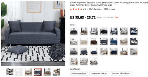 The product video of this sofa slipcover shows you how it's fitted