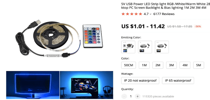 This LED light strip is a recommended product to dropship by Paul Lee