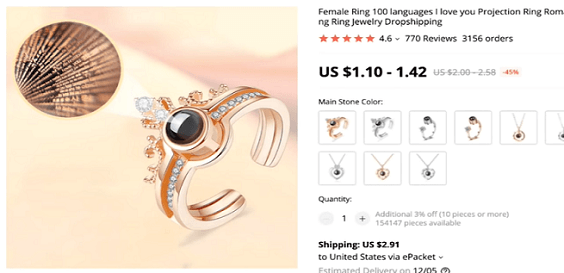 Consider selling these projection rings for your dropshipping business