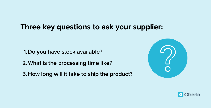 What to ask your supplier