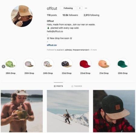 Offcut's Instagram marketing tactics