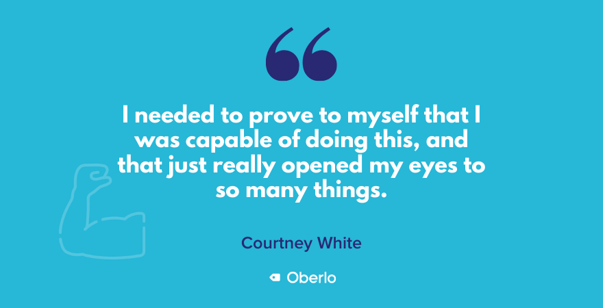 Courtney on proving to herself