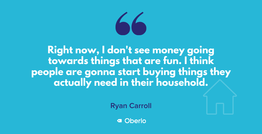 Ryan on where the money is going now