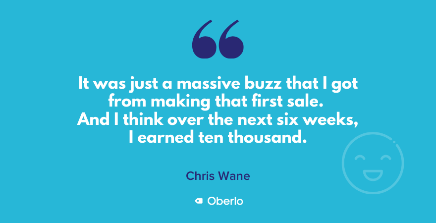Chris on the buzz from his first sale