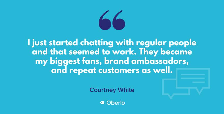 Courtney's brand ambassador strategy