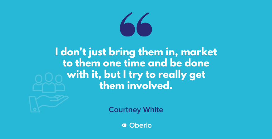 Courtney on getting her audience involved