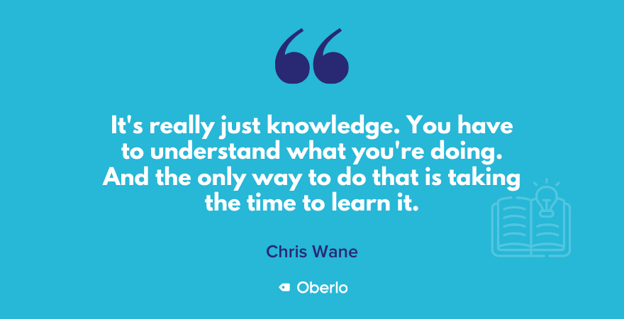 Chris on taking the time to learn