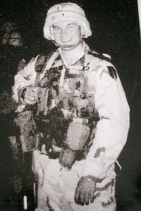 John Lee Dumas as an army officer