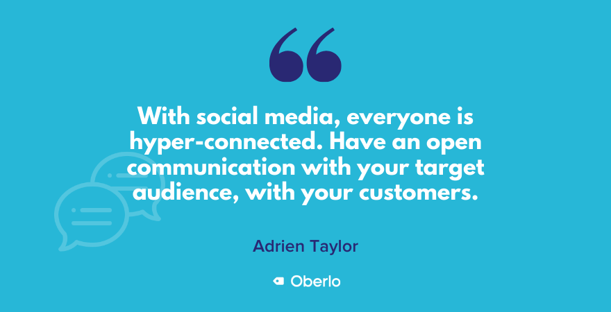 Business tip: Have an open communication with your target audience on social media