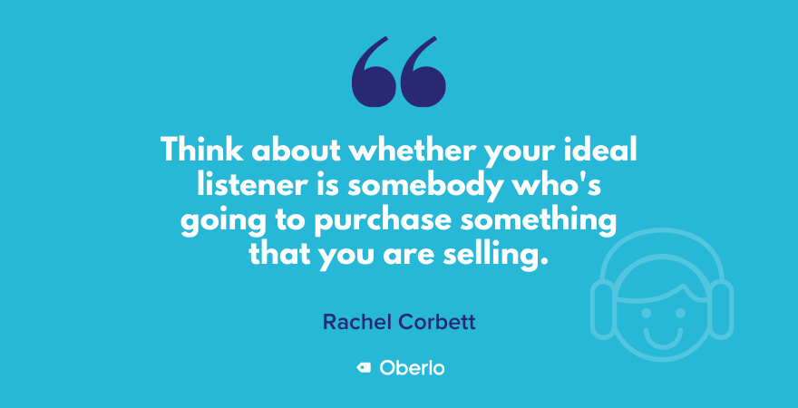 Rachel's quote on podcasting