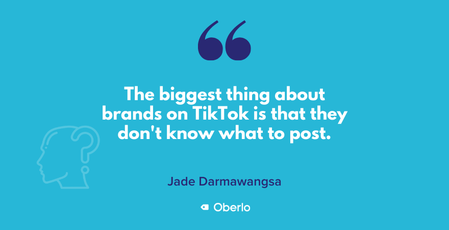 Jade quote on brands on TikTok