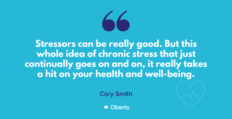 Cory talks about stress