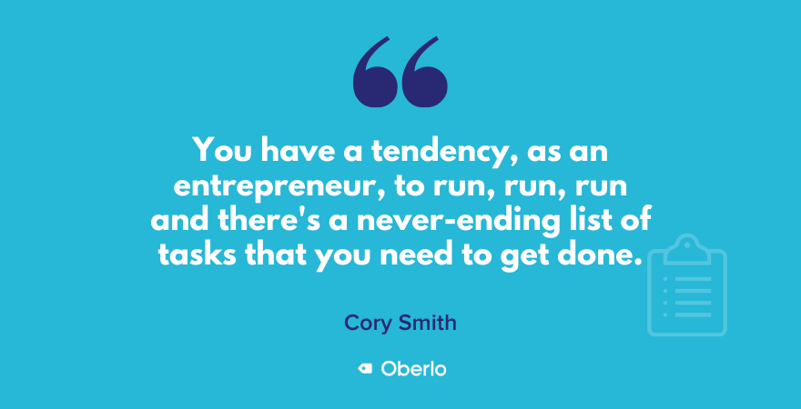 Cory Smith quote on serial entrepreneurs