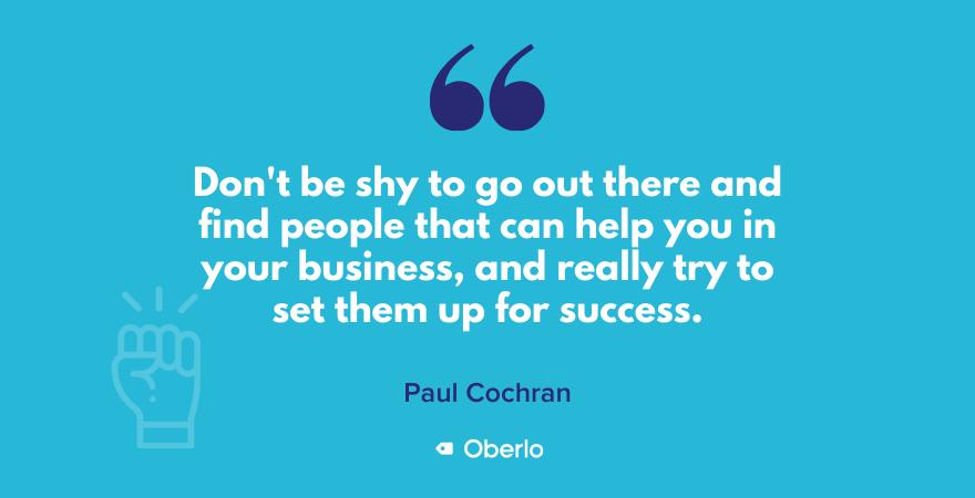 Paul Cochran talks about outsourcing
