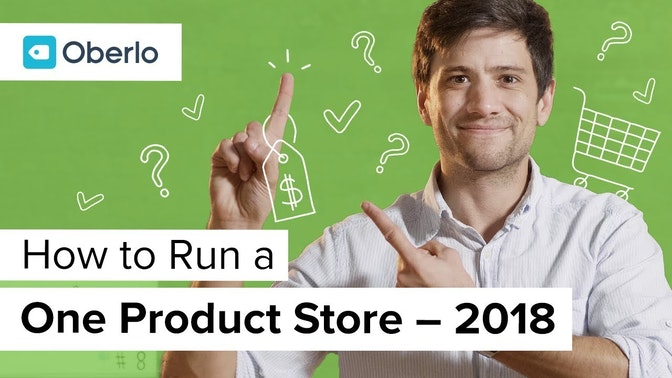 how to run a one-product store