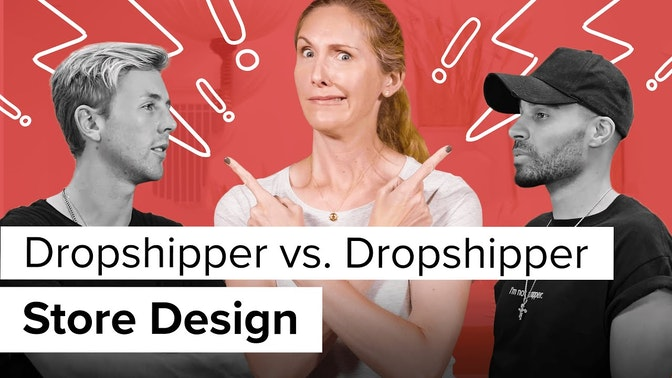 dropshipper vs dropshipper store design