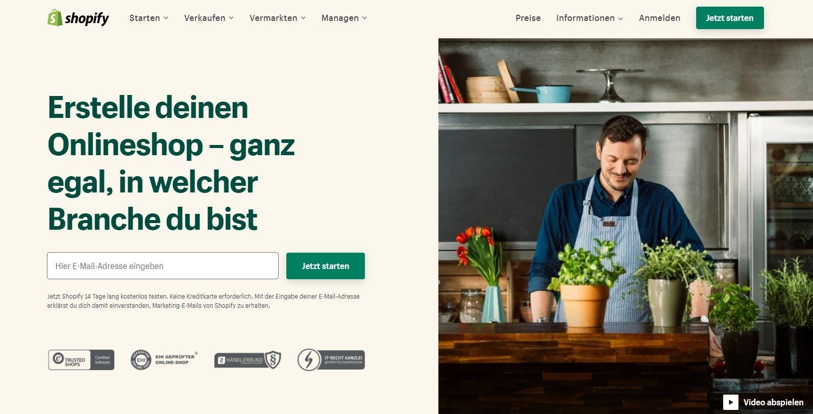 E-Commerce Plattform Shopify