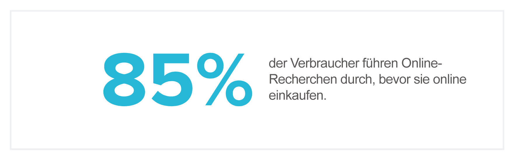 E-Commerce Statistik - Online recherche