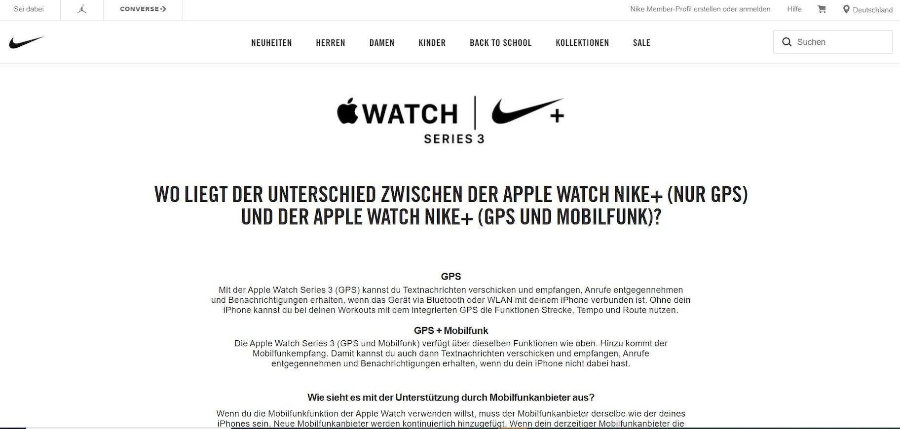 Nike Umfrage
