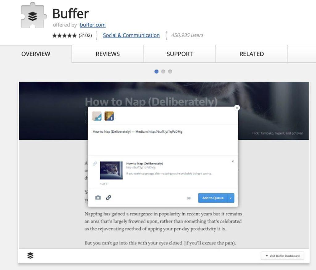 Chrome erweiterungen buffer