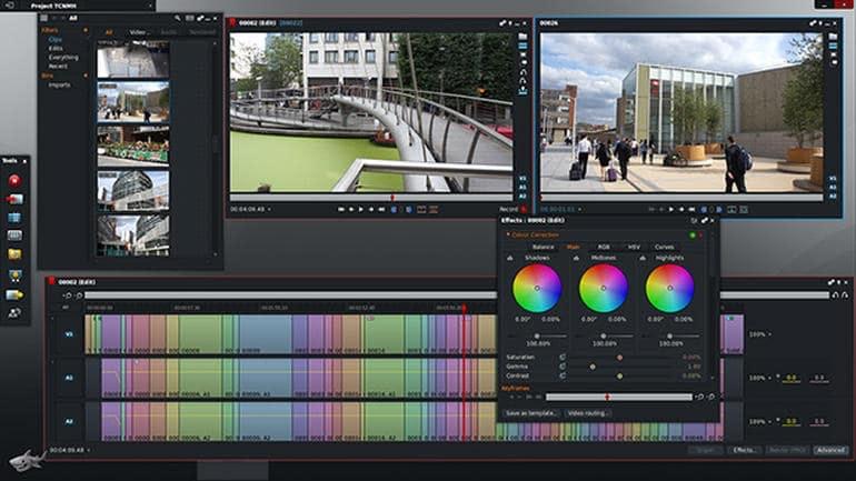 Screenshot videobearbeitungsprogramm Lightworks
