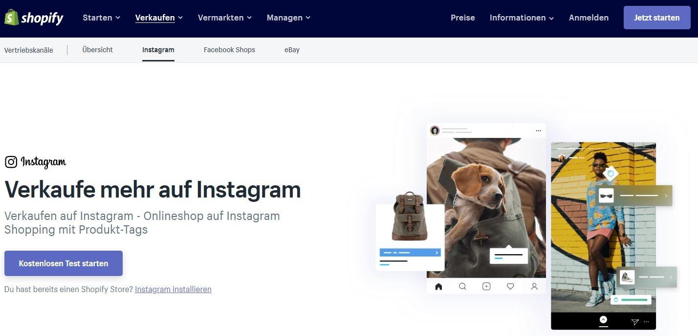Instagram Kanal auf Shopify