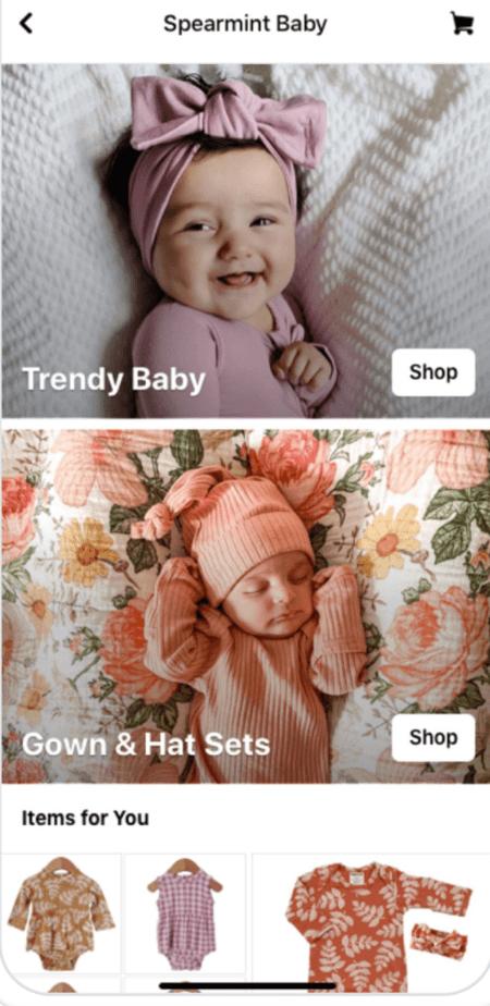 Facebook Shop auf dem Handy - Screenshot
