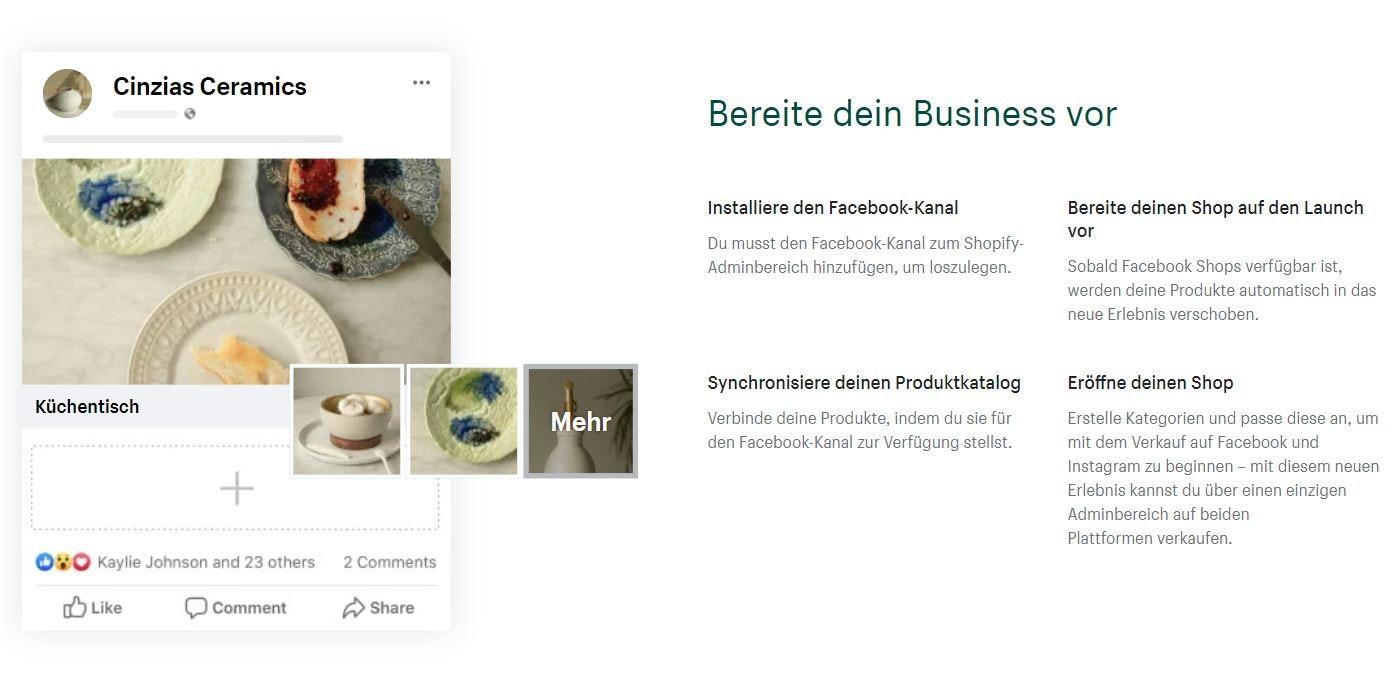 Shopify und Facebook Shop