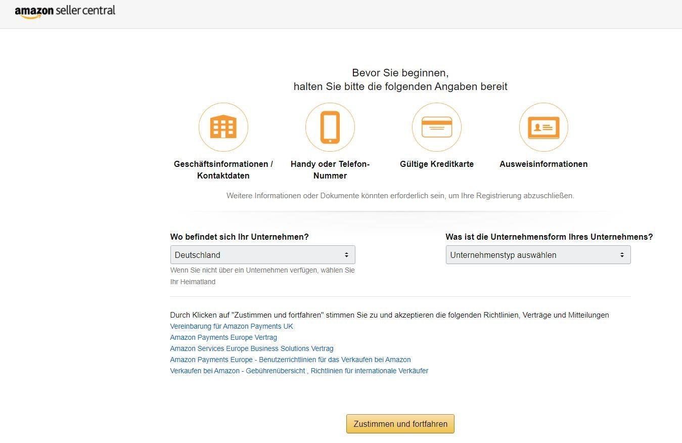 Bei Amazon verkaufen als Unternehmen